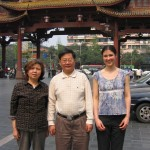 With Dr. Fang and his wife after our farewell dinner, Chengdu