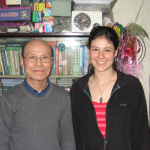 Kate with Dr. Wu Bo-Ping at his home in Hangzhou